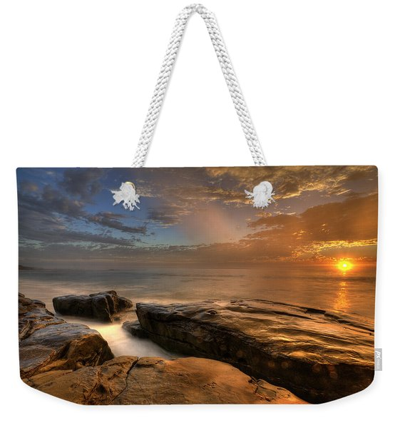 Windnsea Gold Weekender Tote Bag