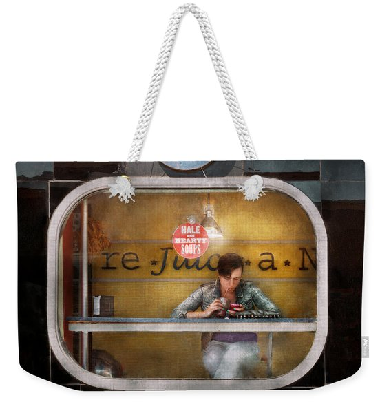 Window - Hoboken Nj - Hale And Hearty Soups  Weekender Tote Bag