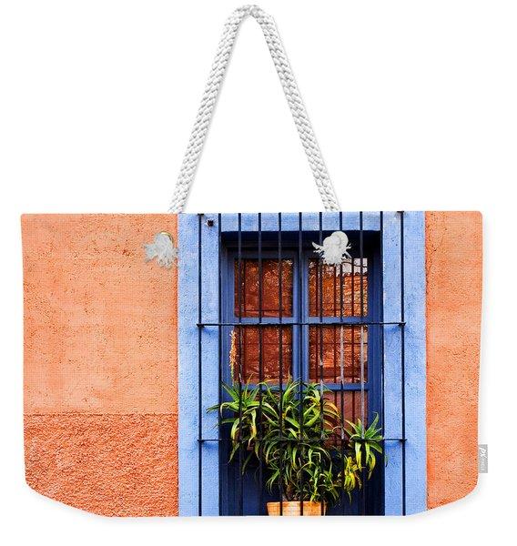 Window In San Miguel De Allende Mexico Square Weekender Tote Bag