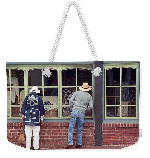 Window Shoppers Weekender Tote Bag