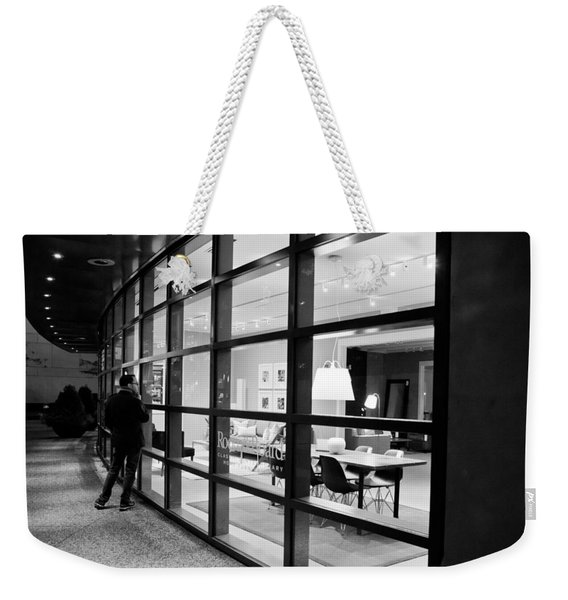 Window Shopping In The Dark Weekender Tote Bag
