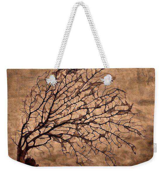 Windowpane Coral Weekender Tote Bag