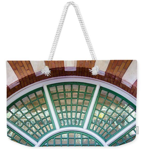 Weekender Tote Bag featuring the photograph Windows Of Ybor by Carolyn Marshall