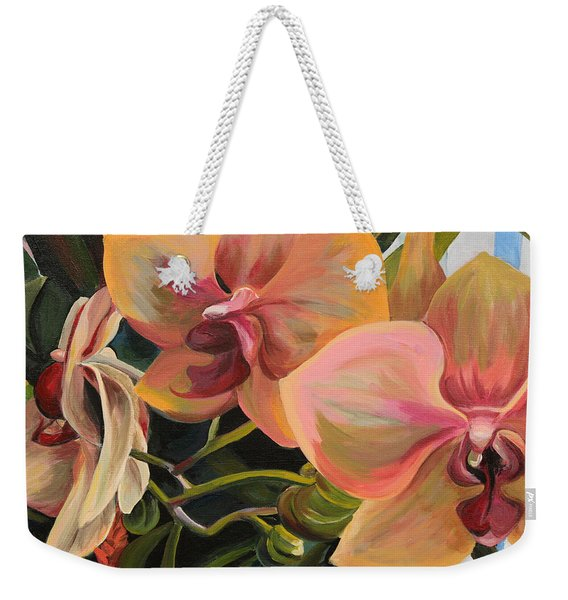 Windowsill Orchids Weekender Tote Bag