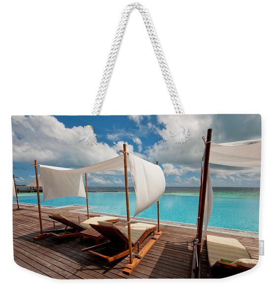 Windy Day At Maldives Weekender Tote Bag