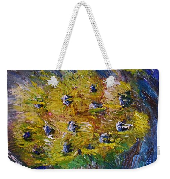 Weekender Tote Bag featuring the painting Windy by Laurie Lundquist