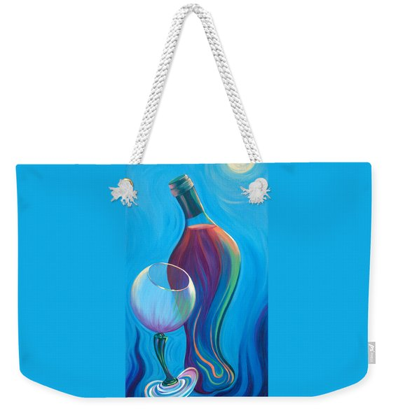 Weekender Tote Bag featuring the painting A Wine Affair by Sandi Whetzel