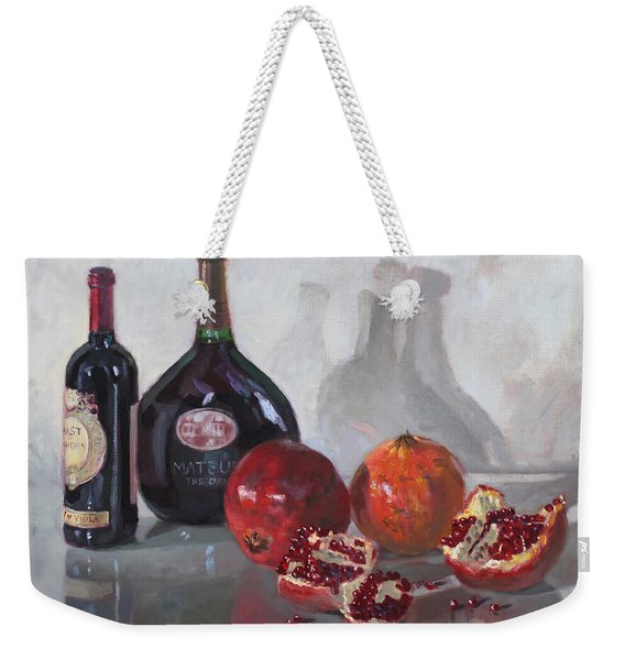 Wine And Pomegranates Weekender Tote Bag