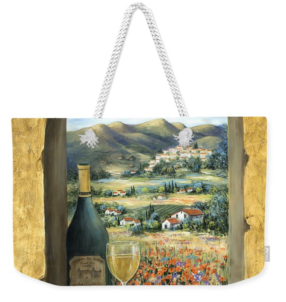 Wine And Poppies Weekender Tote Bag