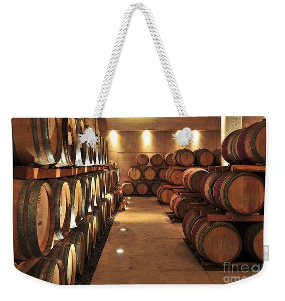 Wine Barrels Weekender Tote Bag
