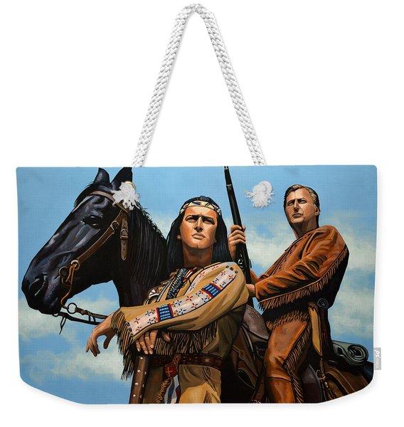 Winnetou And Old Shatterhand Weekender Tote Bag