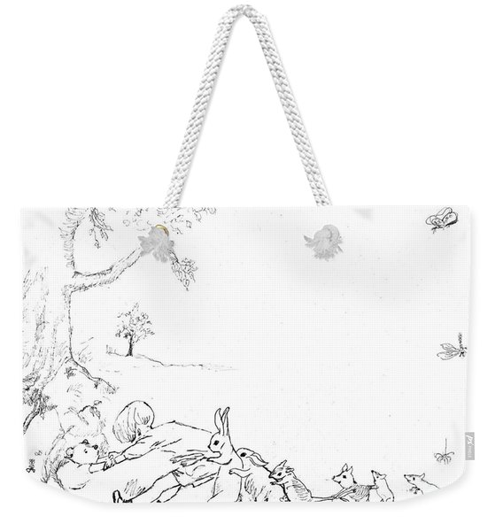 Winnie The Pooh And Crew In Pen  And Ink After E H Shepard Weekender Tote Bag