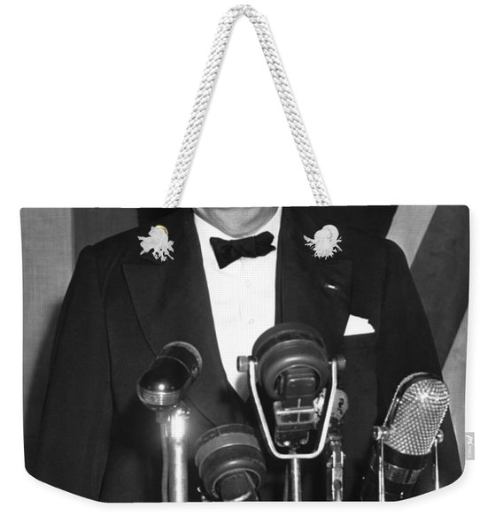 Winston Churchill Speaks Weekender Tote Bag