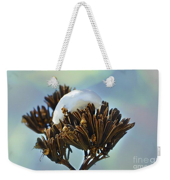 Winter Agave Bloom Weekender Tote Bag