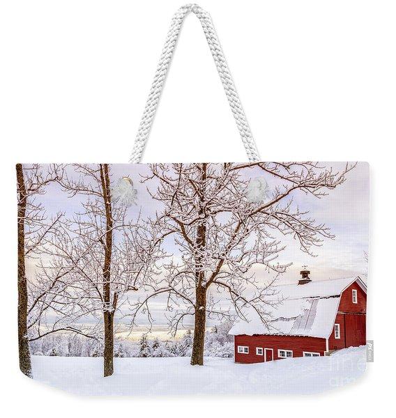 Winter Arrives Weekender Tote Bag