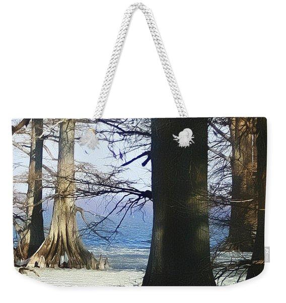 Winter At Reelfoot Lake Weekender Tote Bag