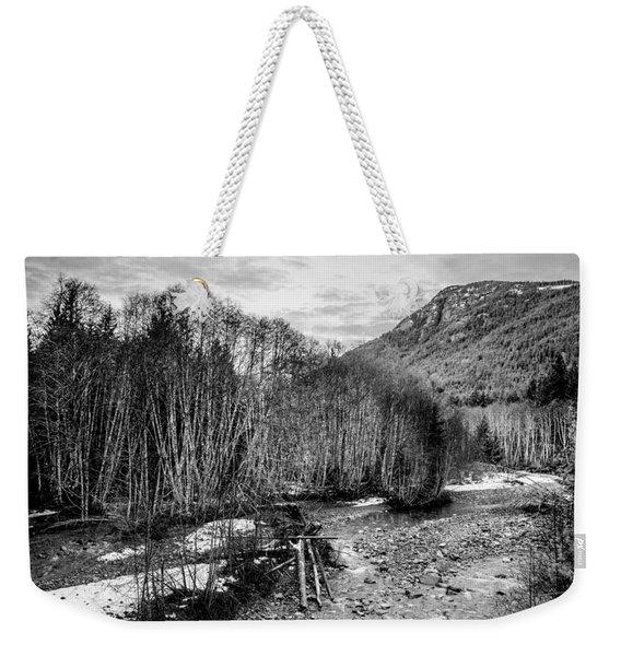 Winter Backroads Englishman River Weekender Tote Bag