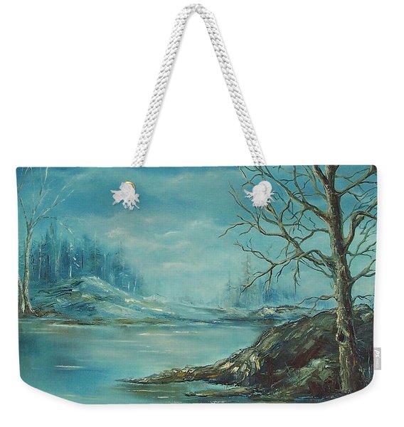 Winter Blue Weekender Tote Bag