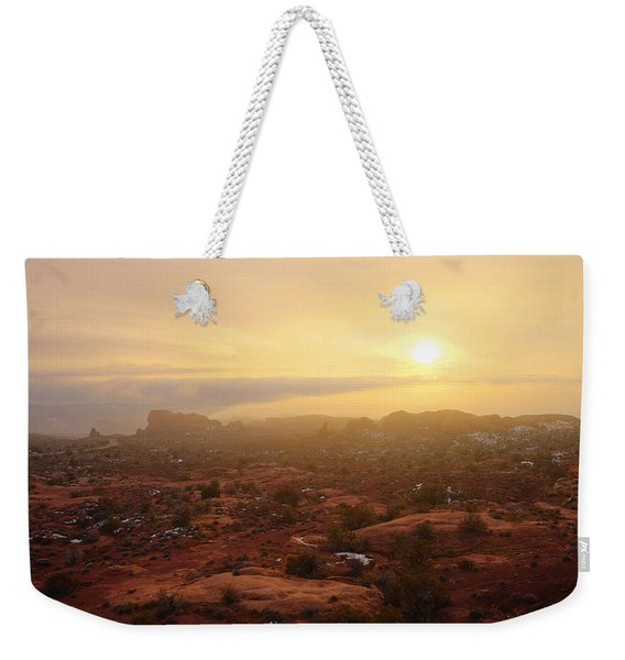 Winter Desert Glow Weekender Tote Bag