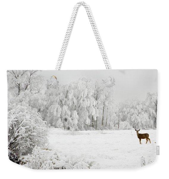 Winter Doe Weekender Tote Bag