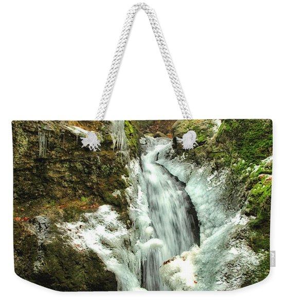 Winter Falls Weekender Tote Bag