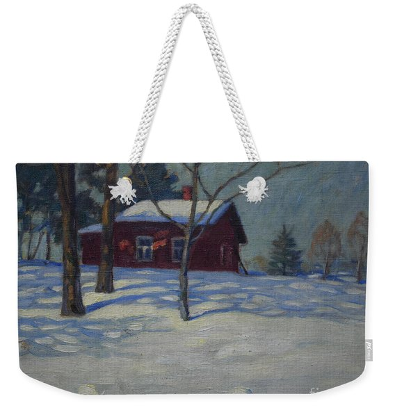 Winter House Weekender Tote Bag
