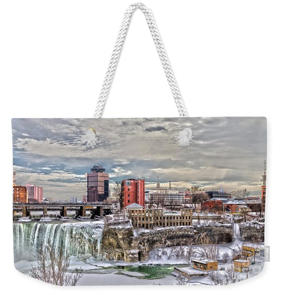 Winter In Rochester Weekender Tote Bag