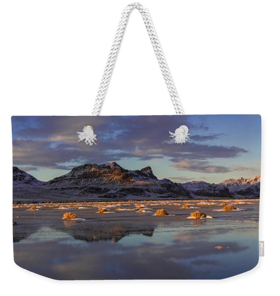 Winter In The Salt Flats Weekender Tote Bag