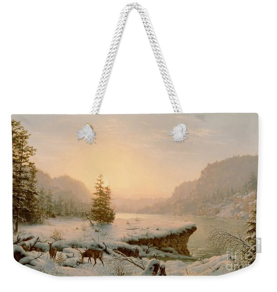 Winter Landscape Weekender Tote Bag