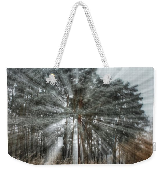 Winter Light In A Forest Weekender Tote Bag