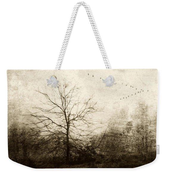 Winter Migration Weekender Tote Bag