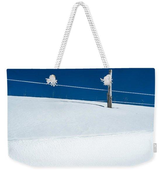 Winter Minimalism Weekender Tote Bag