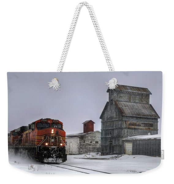 Winter Mixed Freight Through Castle Rock Weekender Tote Bag