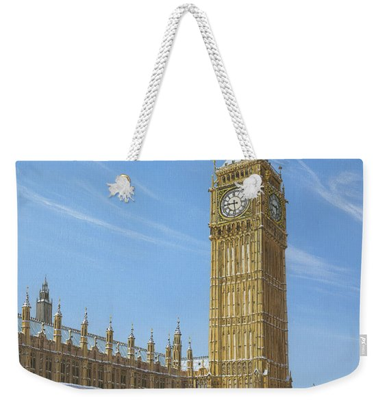 Winter Morning Big Ben Elizabeth Tower London Weekender Tote Bag