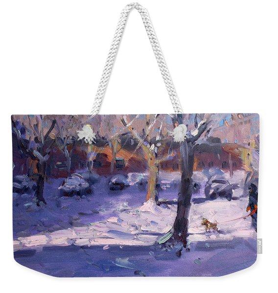 Winter Morning In My Courtyard Weekender Tote Bag