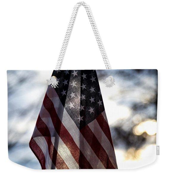 Winter Morning Patriotism Weekender Tote Bag