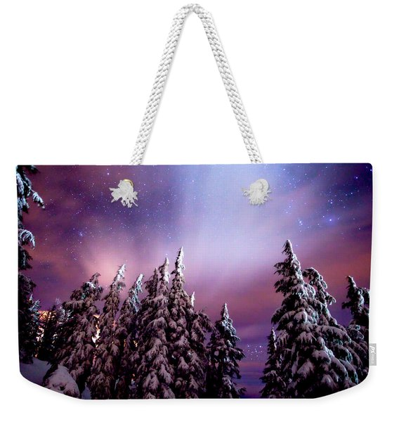 Winter Nights Weekender Tote Bag