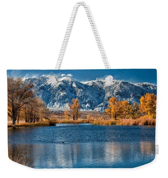 Winter Or Fall Weekender Tote Bag