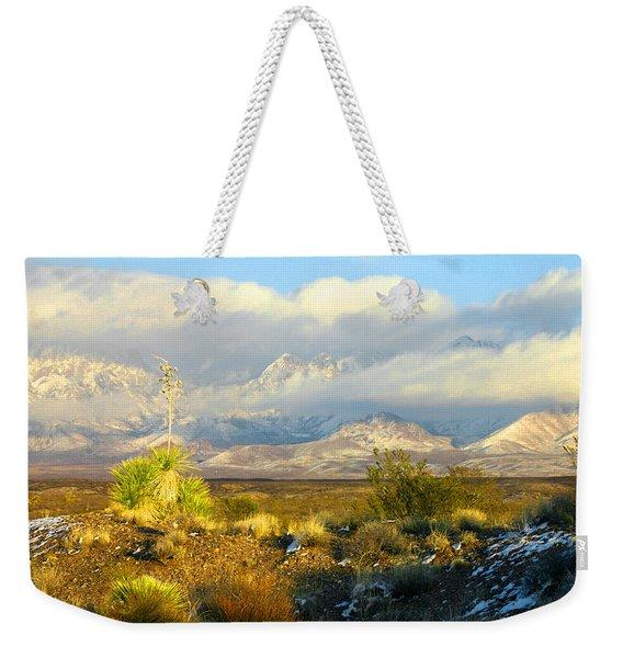 Winter In The Organ Mountains Weekender Tote Bag