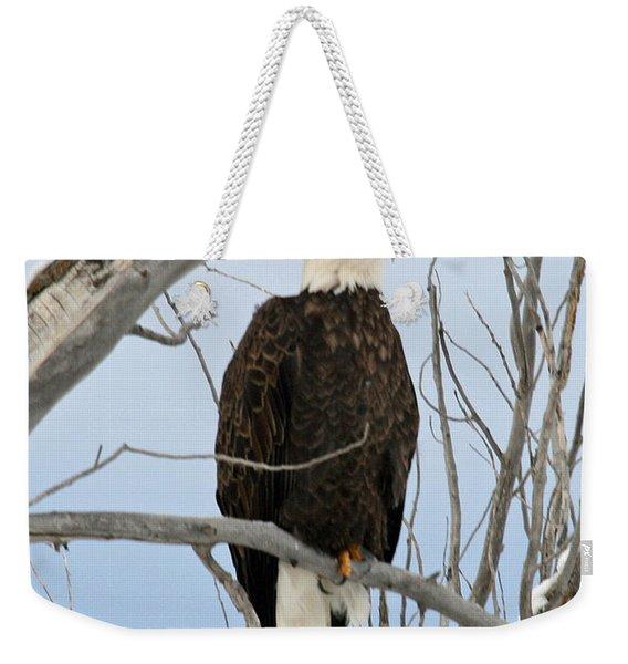 Winter Perch Weekender Tote Bag