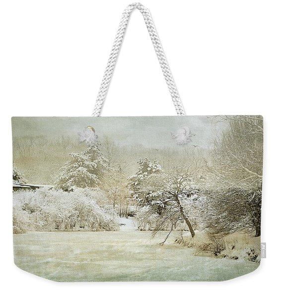 Winter Silence Weekender Tote Bag