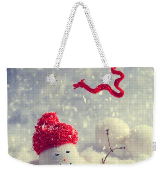 Winter Snowman Weekender Tote Bag