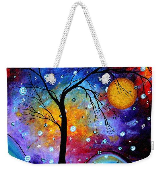 Winter Sparkle Original Madart Painting Weekender Tote Bag