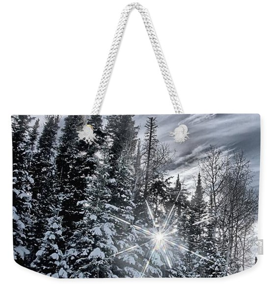 Winter Star Weekender Tote Bag