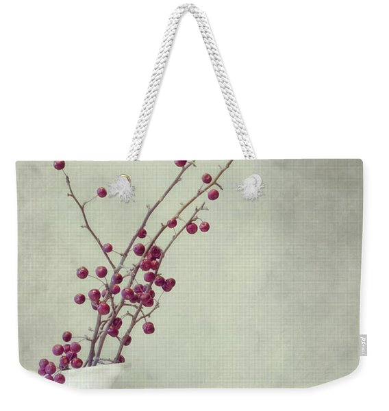 Winter Still Life Weekender Tote Bag