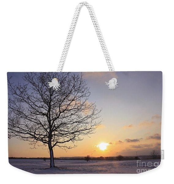 Winter Sunset Uk Weekender Tote Bag