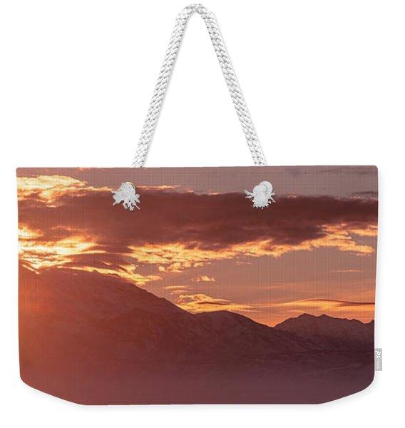 Winter Wasatch Daybreak Weekender Tote Bag