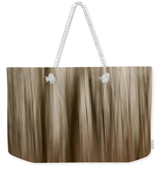Winter Woods Abstract Weekender Tote Bag