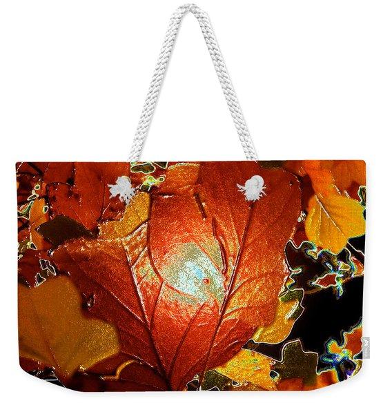 winters autumn in Pasadena Weekender Tote Bag