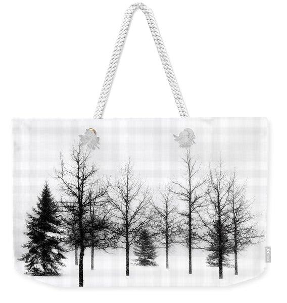 Winter's Bareness II Weekender Tote Bag